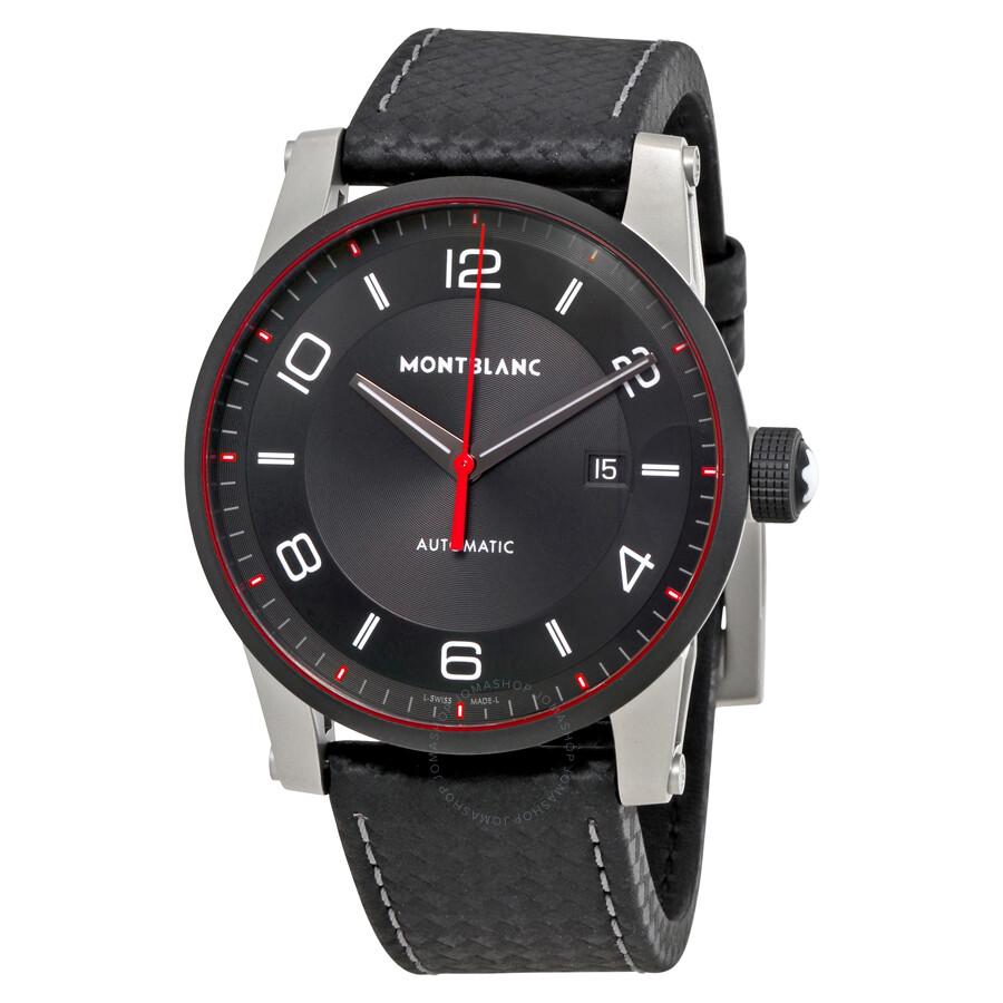 Montblanc timewalker automatic black dial men 39 s watch 115079 timewalker montblanc watches for Montblanc watches