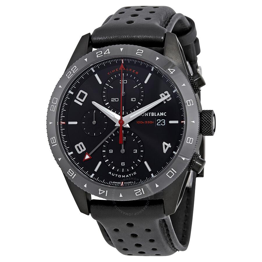 Montblanc timewalker chronograph automatic black dial men 39 s watch 116102 timewalker for Montblanc watches