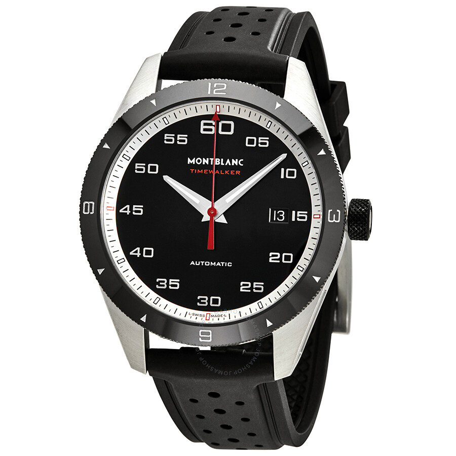 21bf699bb Montblanc TimeWalker Automatic Black Dial Men's Watch 116059 ...