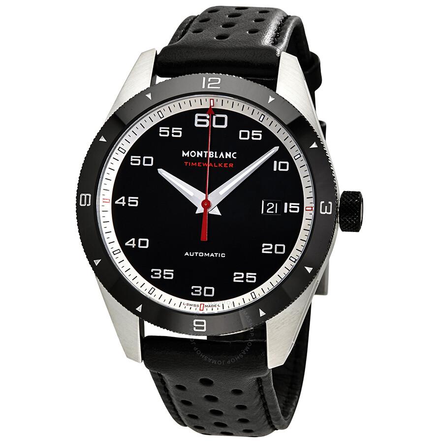 Montblanc timewalker automatic black dial men 39 s watch 116061 timewalker montblanc watches for Montblanc watches