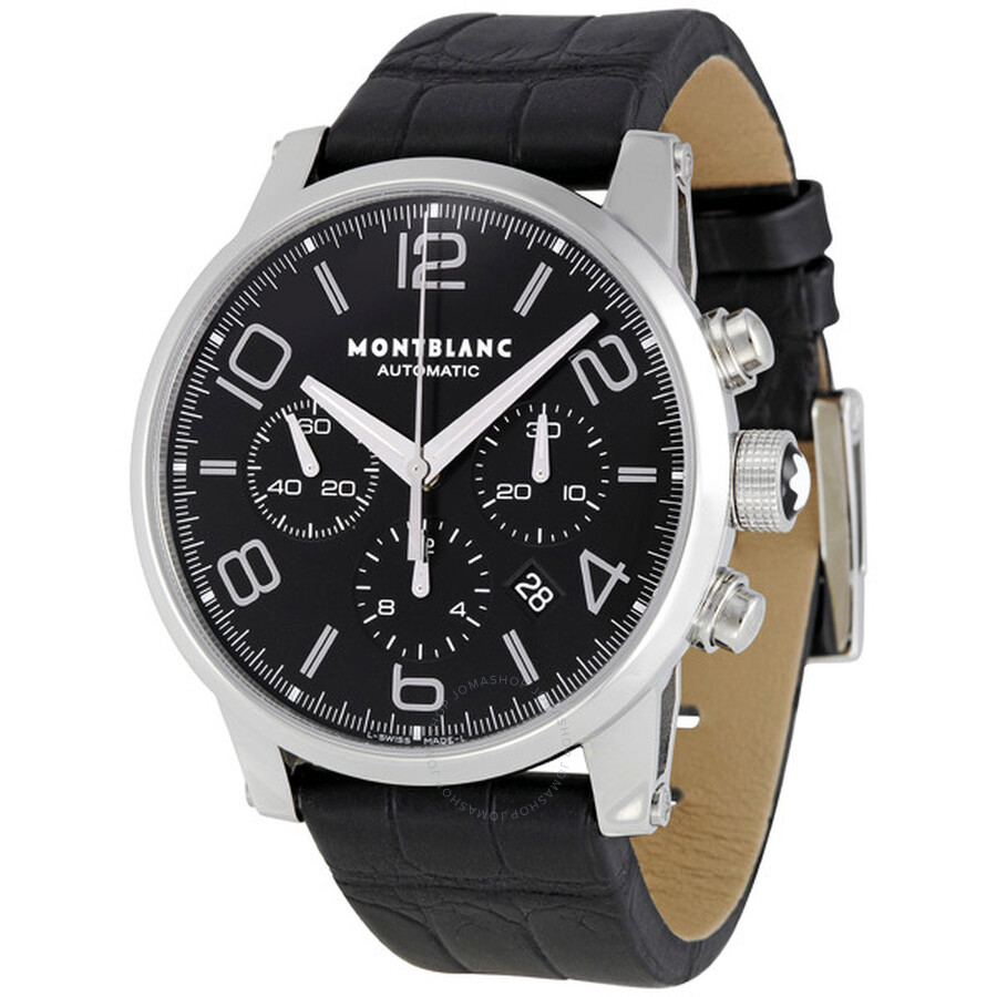 bbb5eed3f33 Montblanc Timewalker Black Dial Chronograph Automatic Men's Watch 9670 ...