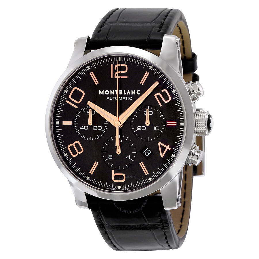 2c1ff6eaca6d3 Montblanc Timewalker Chronograph Automatic Black Dial Men s Watch 101548 ...