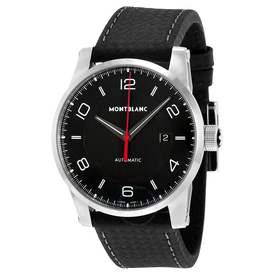Montblanc timewalker urban automatic black dial men 39 s watch 113877 timewalker montblanc for Montblanc watches