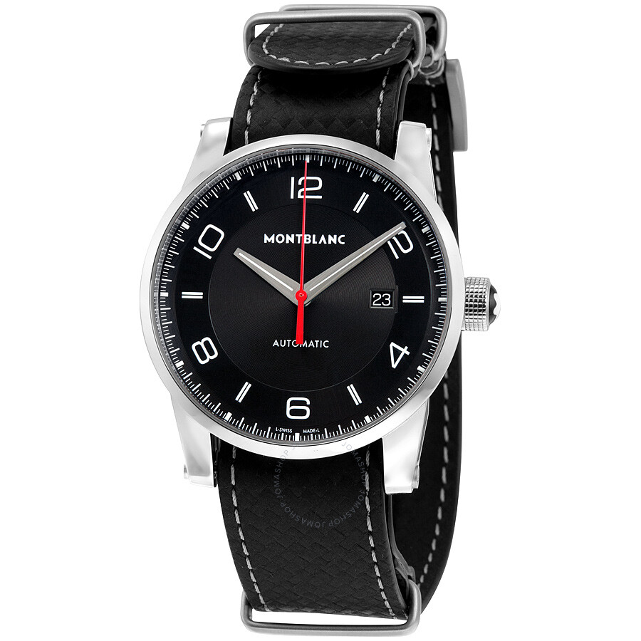 Montblanc timewalker urban speed utc e strap black dial automatic men 39 s watch 113850 for Montblanc watches
