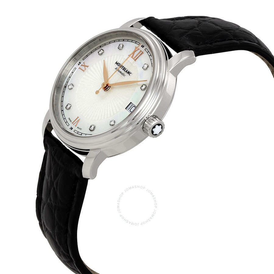 Montblanc tradition automatic mother of pearl dial ladies watch 114957 tradition montblanc for Mother of pearl dial watch