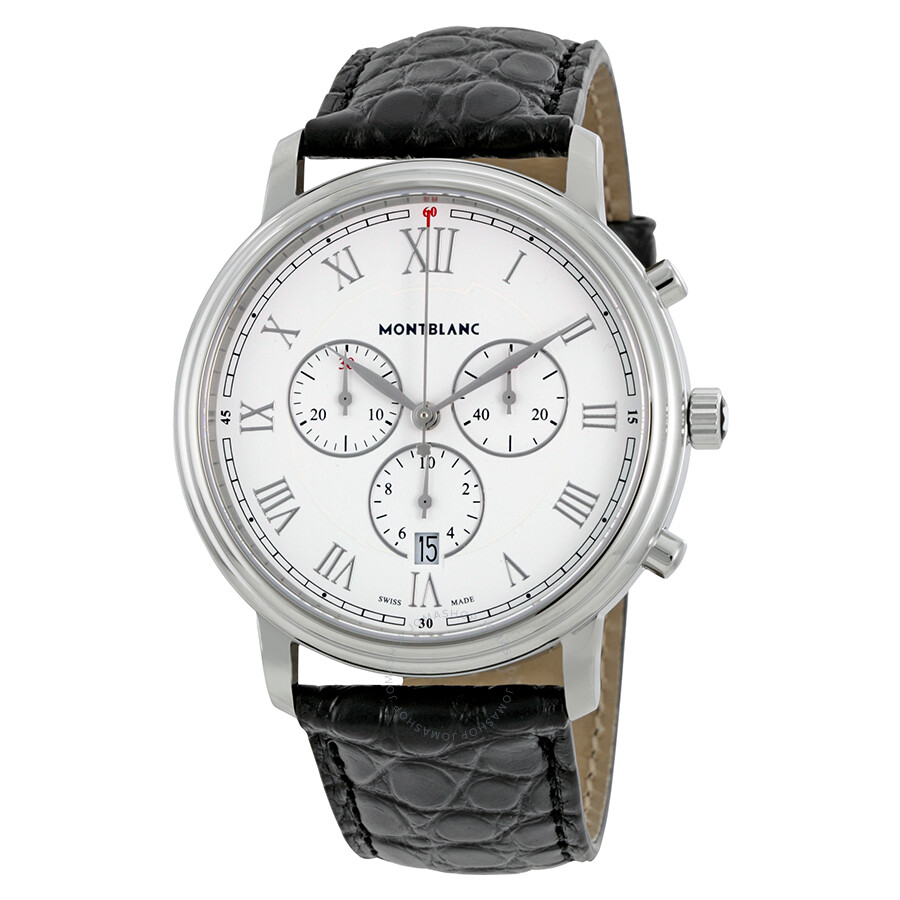 Montblanc tradition chronograph men 39 s watch 114339 tradition montblanc watches jomashop for Montblanc watches