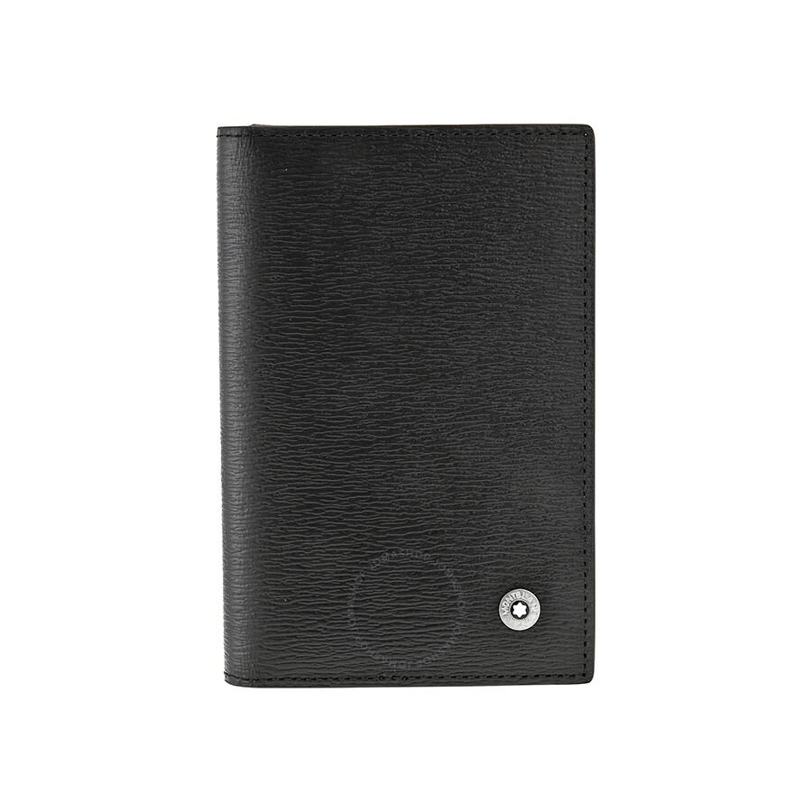 Montblanc Westside Black Leather Business Card Holder 38034 ...