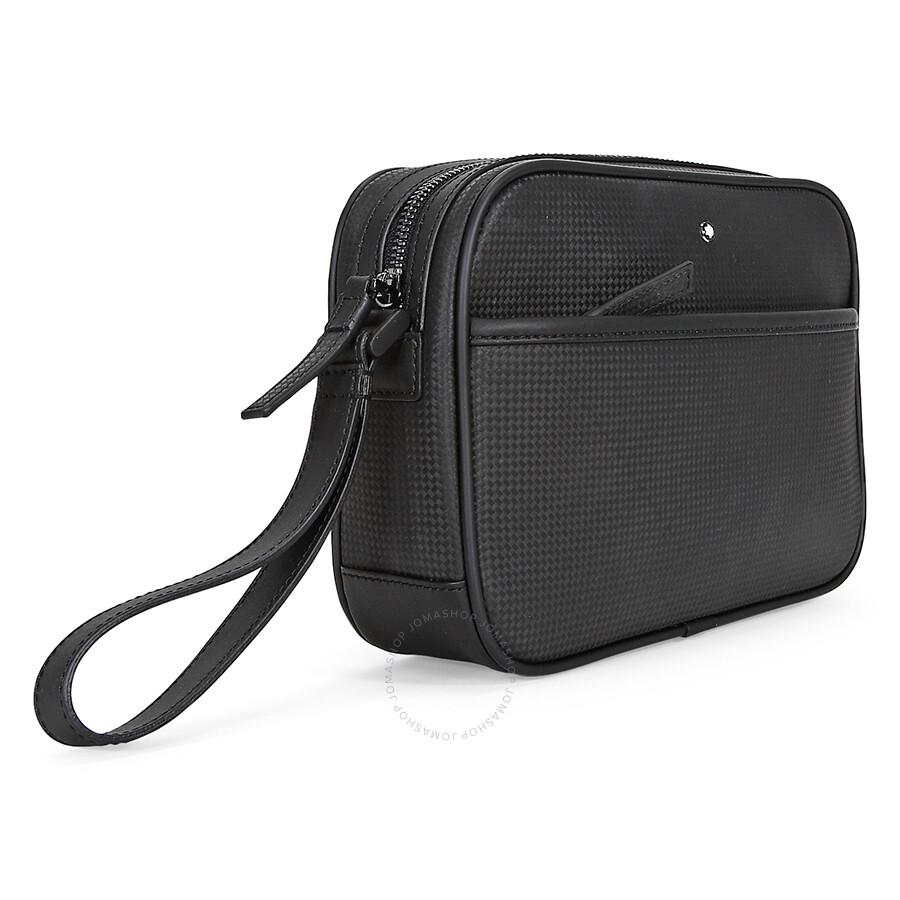 Montblanc Westside Extreme Black Leather Clutch Bag 111140