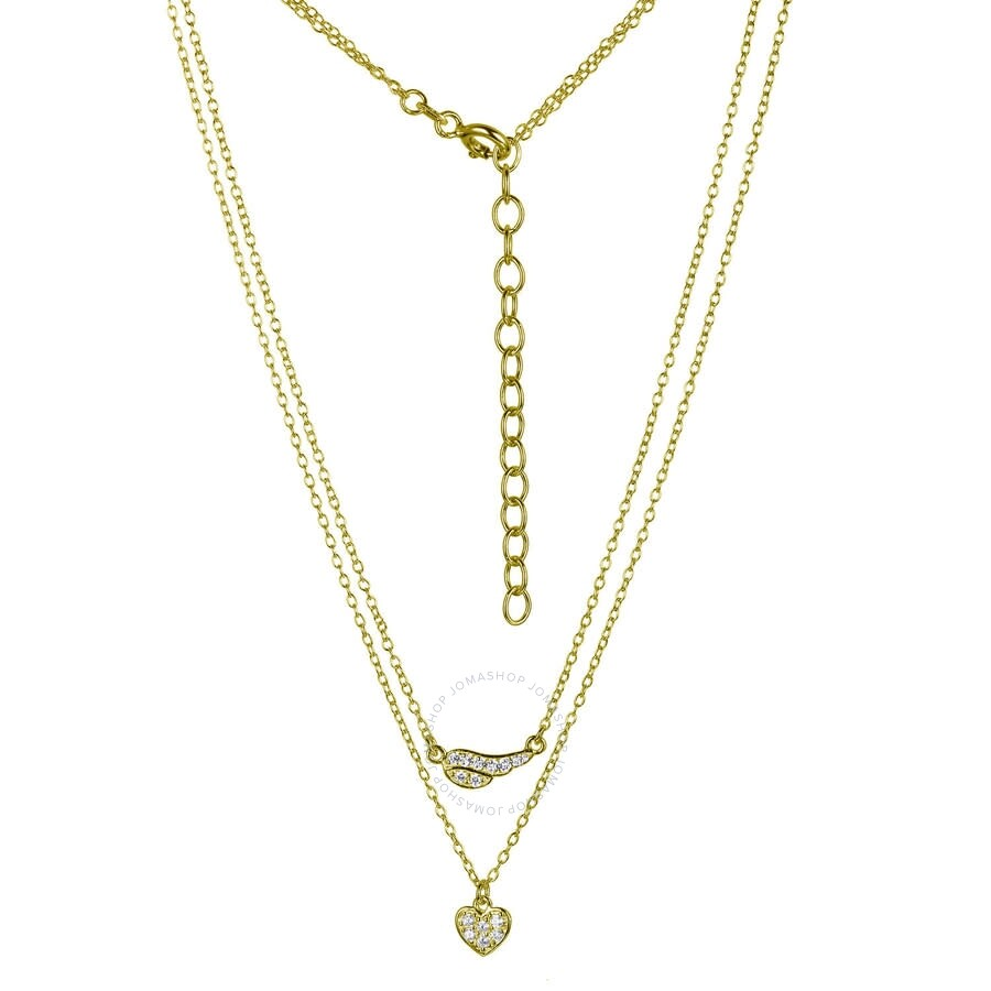 Sterling Silver 3-CZ With 2 Extension Necklace 16