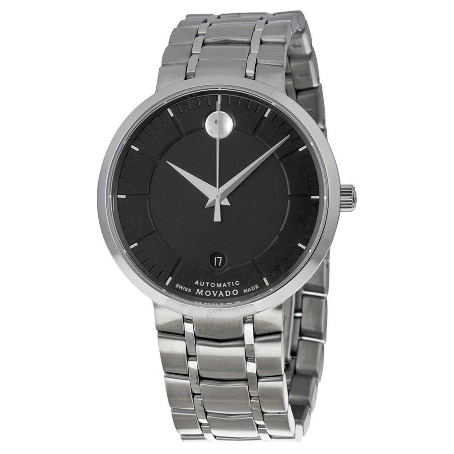 Movado 1881 automatic black dial stainless steel watch 0606914 1881 movado watches jomashop for Stainless watches