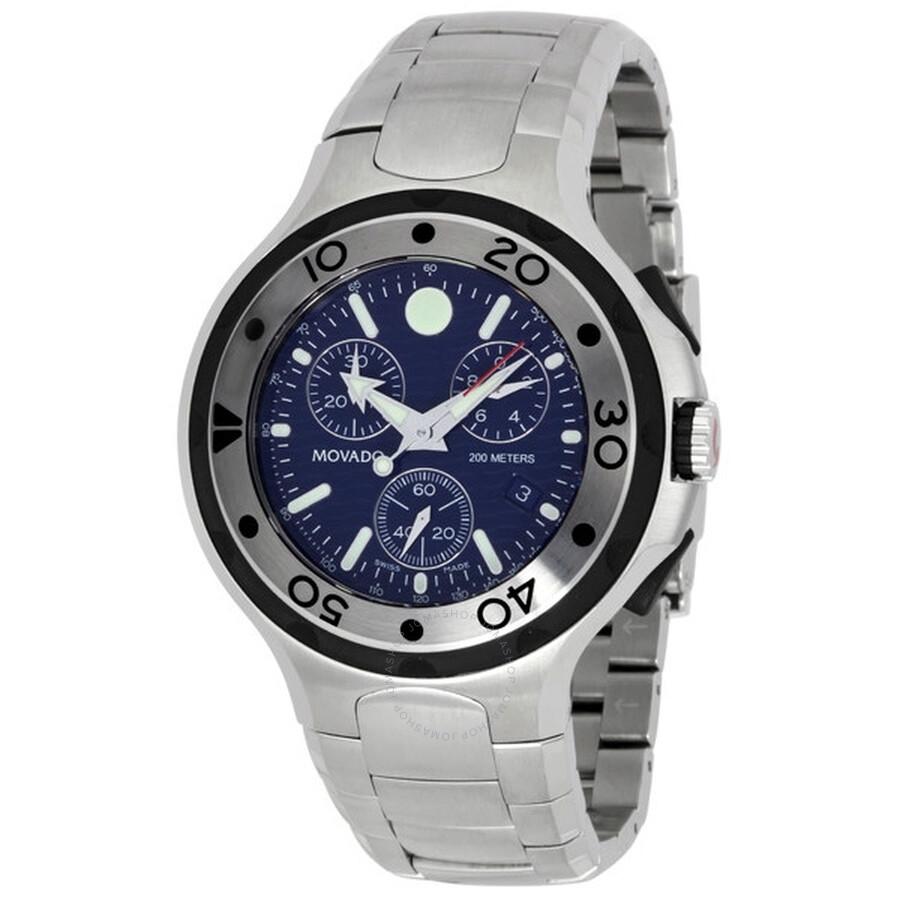 f34ccac52 Movado 800 Series Chronograph Quartz Blue Dial Men's Watch 2600020 ...