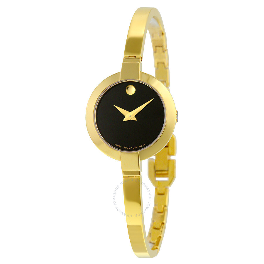movado bela black gold pvd stainless steel