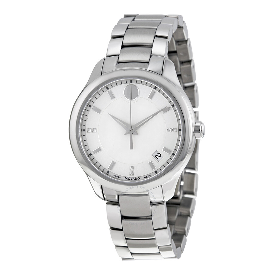 Movado bellina white mother of pearl dial ladies watch 0606978 movado watches jomashop for Pearl watches