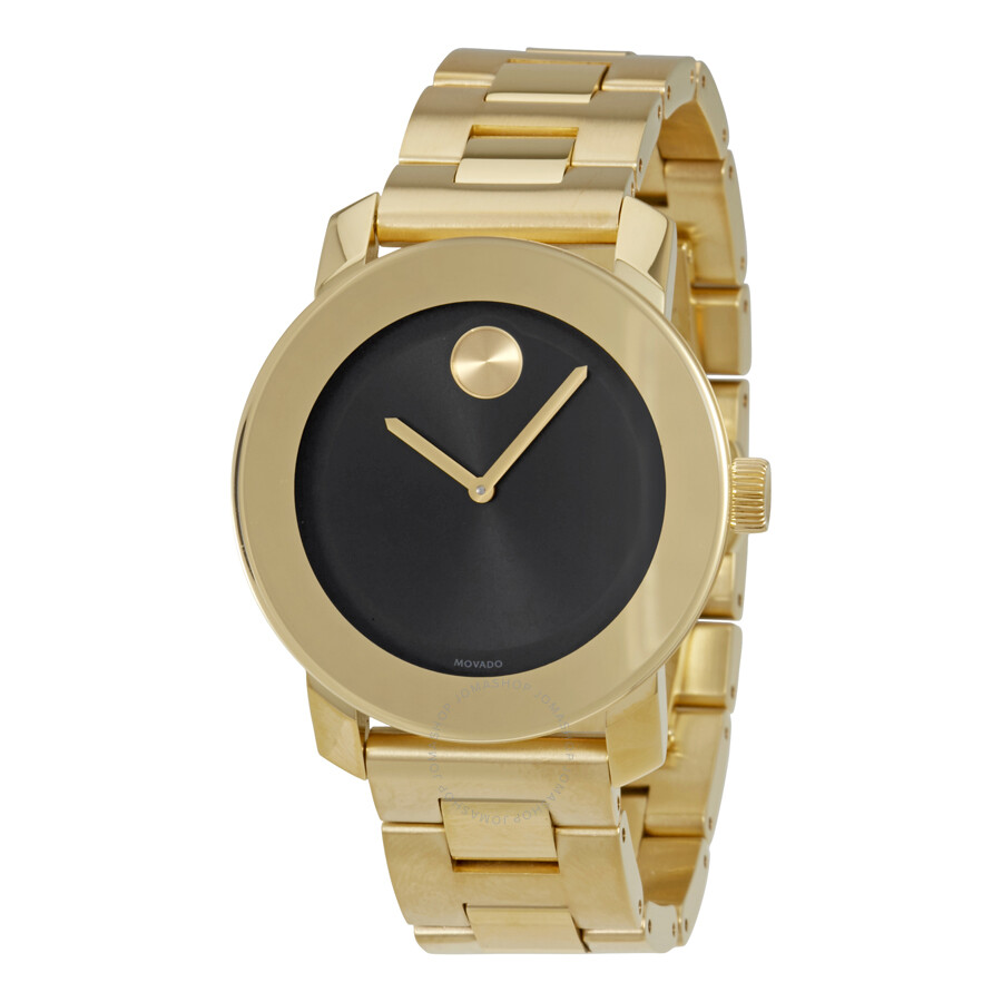 197624502b8 Movado Bold Black Dial Gold-tone Unisex Watch 3600397 - Bold 36mm ...