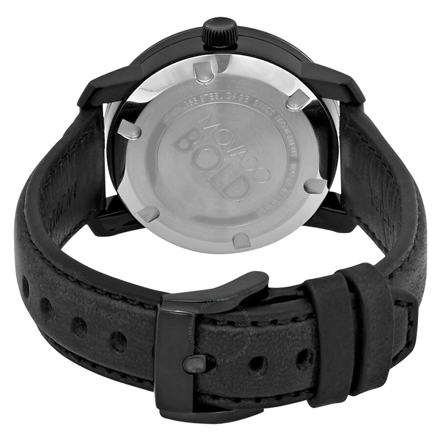 86bf34437 Movado Bold Black Dial Pink Accents Ladies Watch 3600482 - Bold ...