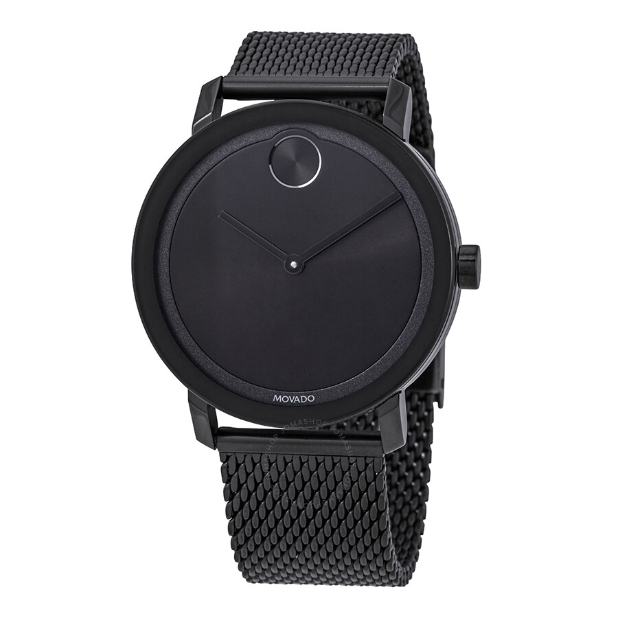Movado Bold Black Dial Men s Stainless Steel Mesh Watch 3600562 ... 7191031cd61a