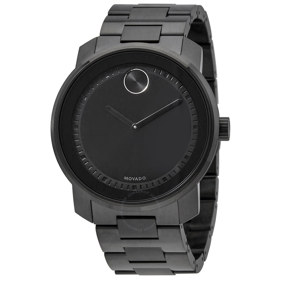 0e3226911 Movado Bold Black Dial Stainless Steel Men's Watch 3600471 - Bold ...