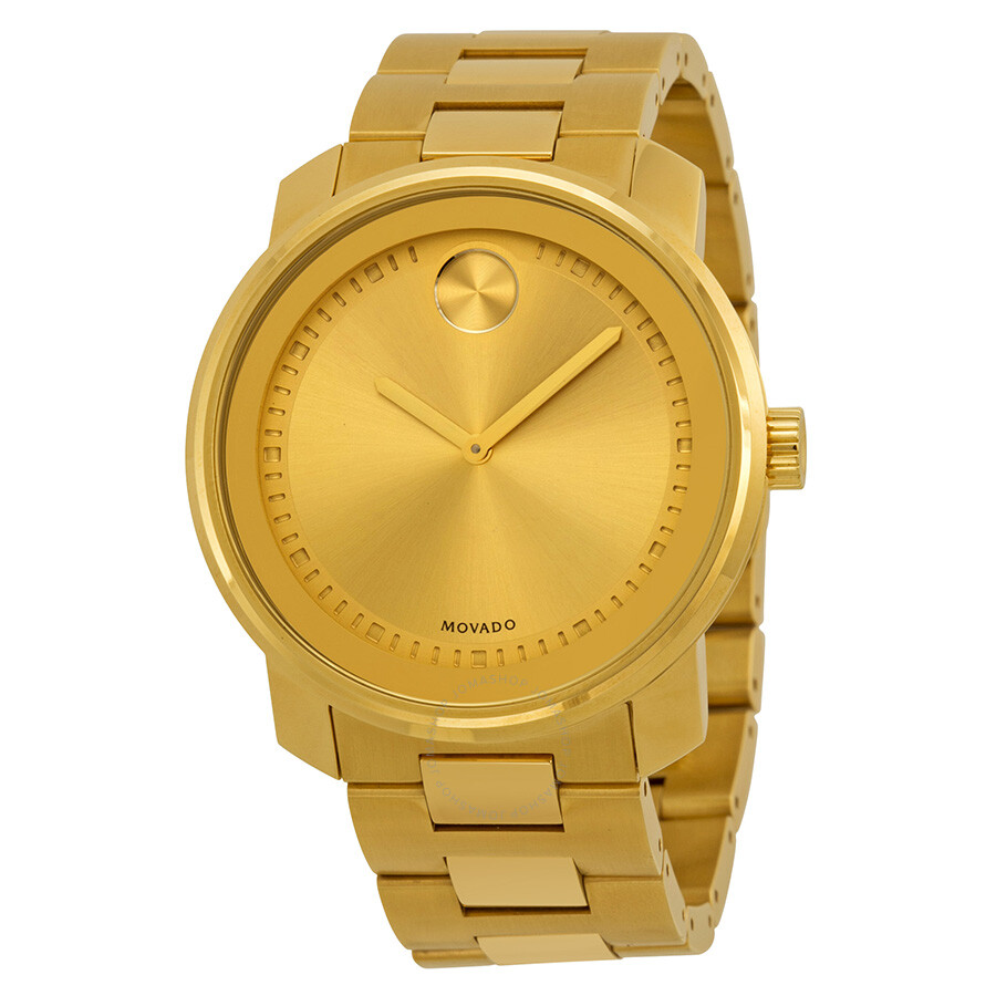 58977d88bc97d8 Movado Bold Champagne Dial Yellow Gold-plated Men's Watch 3600258 ...