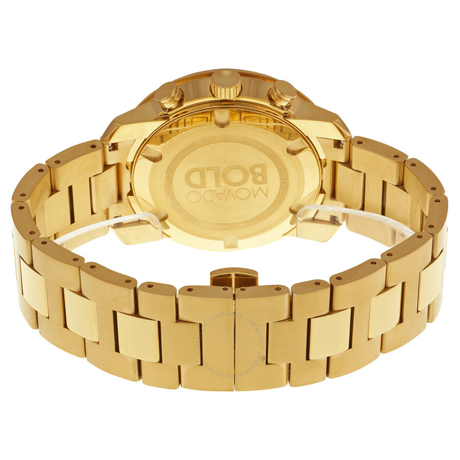 3ea5de8d6 ... Movado Bold Champagne Dial Yellow Gold Ion-plated Men's Watch 3600278  ...