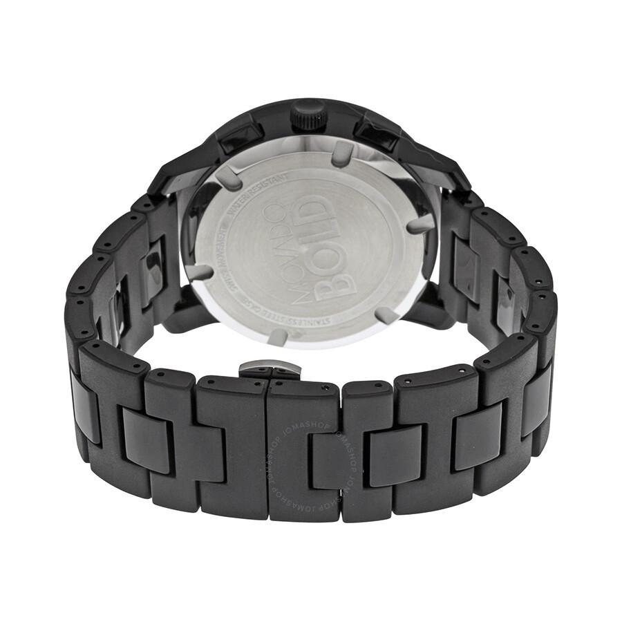 Movado Bold Chronograph Black Bracelet Men's Watch 3600048
