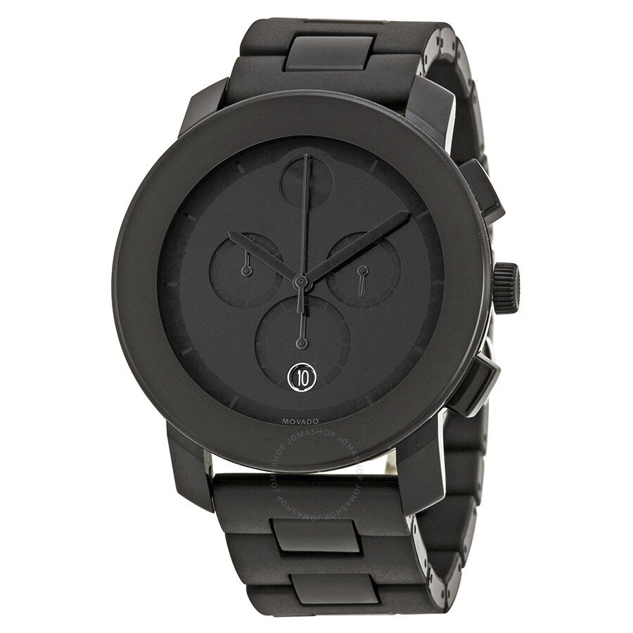 Movado Bold Chronograph Black Bracelet Men's Watch 3600048 ...