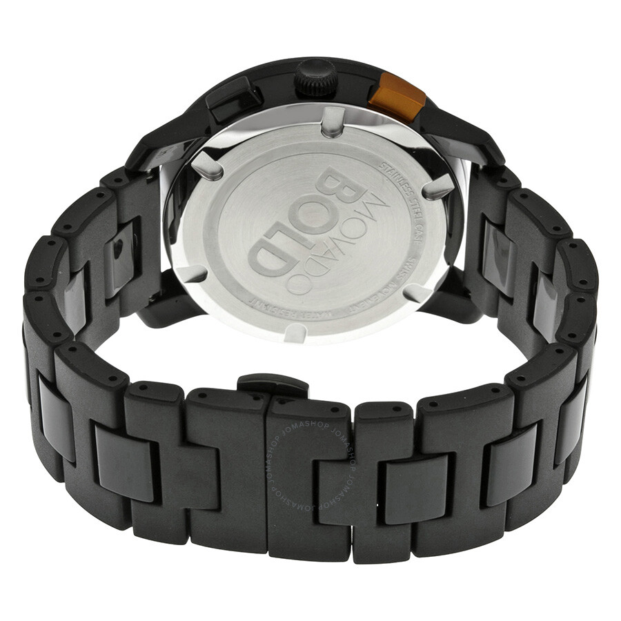 c7be580ed ... Movado Bold Black Dial Black Stainless Steel Case and Band Men's Quartz  Watch 3600271 ...