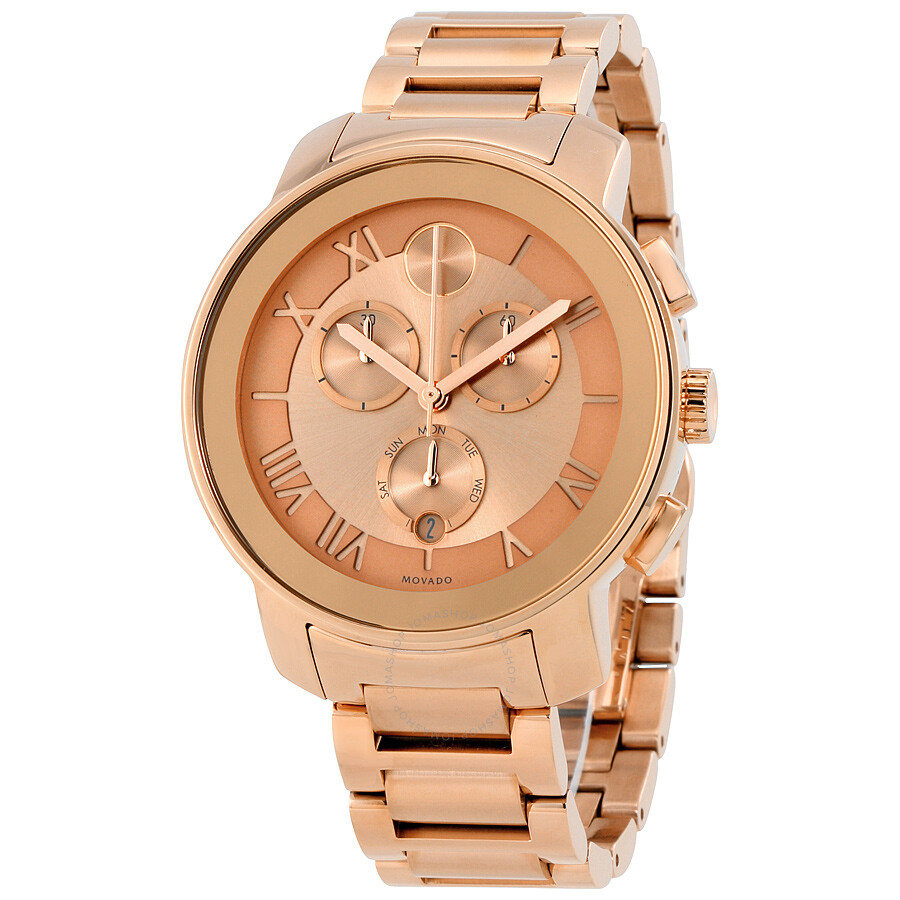 7384b32b5 Movado Bold Chronograph Rose Dial Ladies Watch 3600210 - Bold ...