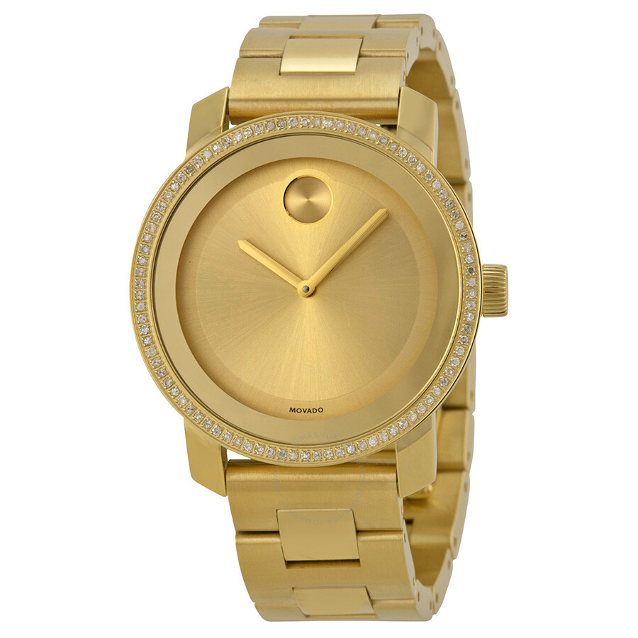 movado bold gold gold ion plated unisex