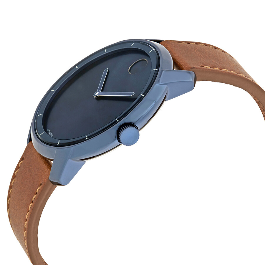 54894f128 Movado Bold Ink Blue Dial Men s Leather Watch 3600470 - Bold ...