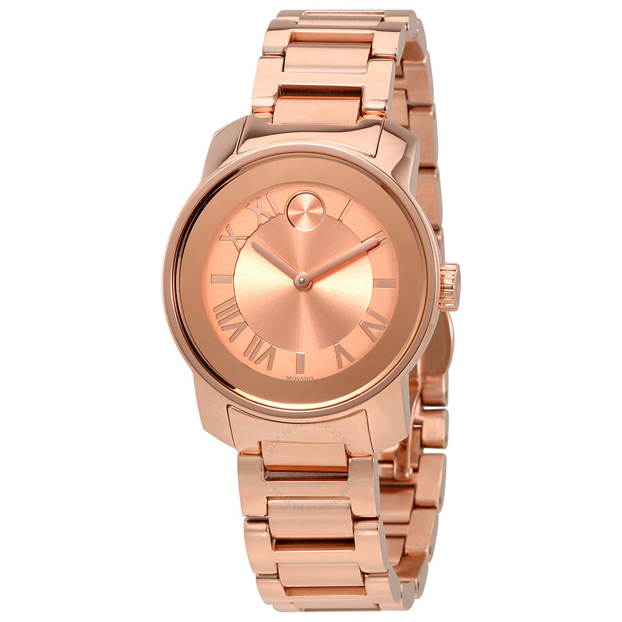 Movado bold rose gold ladies watch 3600441 bold movado watches jomashop for Watches rose gold