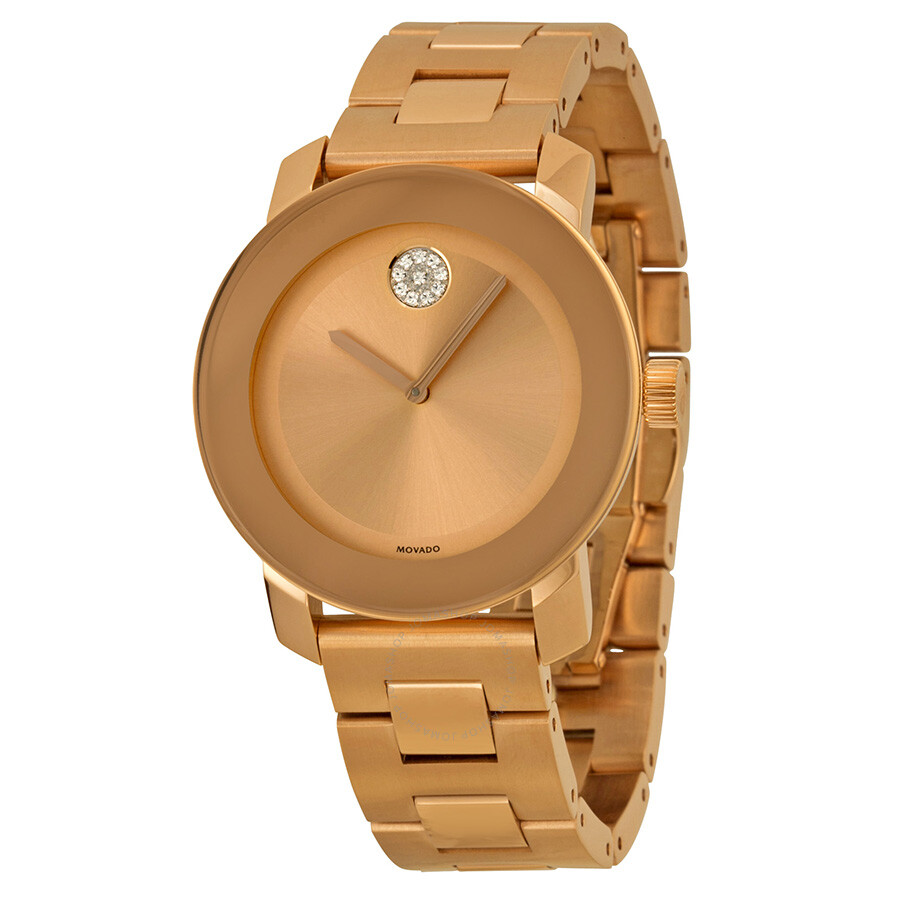aa5f3c5e8 Movado Bold Rose Gold-Tone Stainless Steel Watch 3600086 - Bold ...