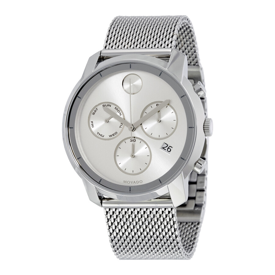 cf36e3f74 Movado Bold Silver Dial Stainless Steel Men's Watch 3600371 - Bold ...