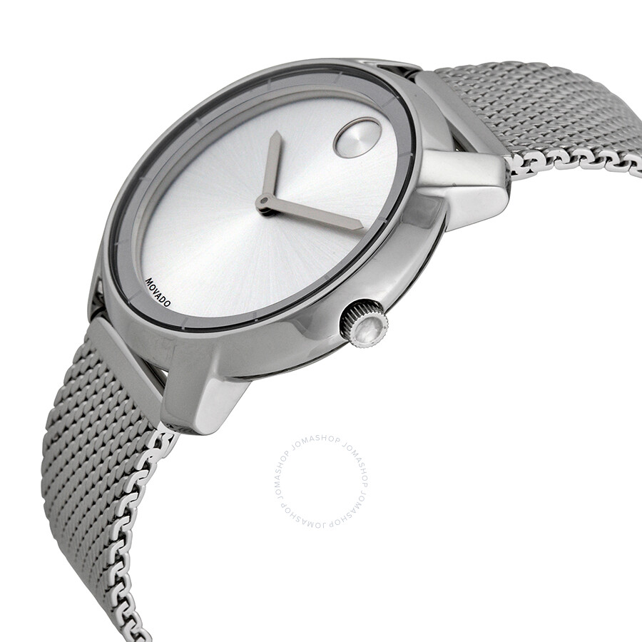 ebd9ff46c ... Movado Bold Silver Dial Stainless Steel Mesh Ladies Watch 3600241 ...