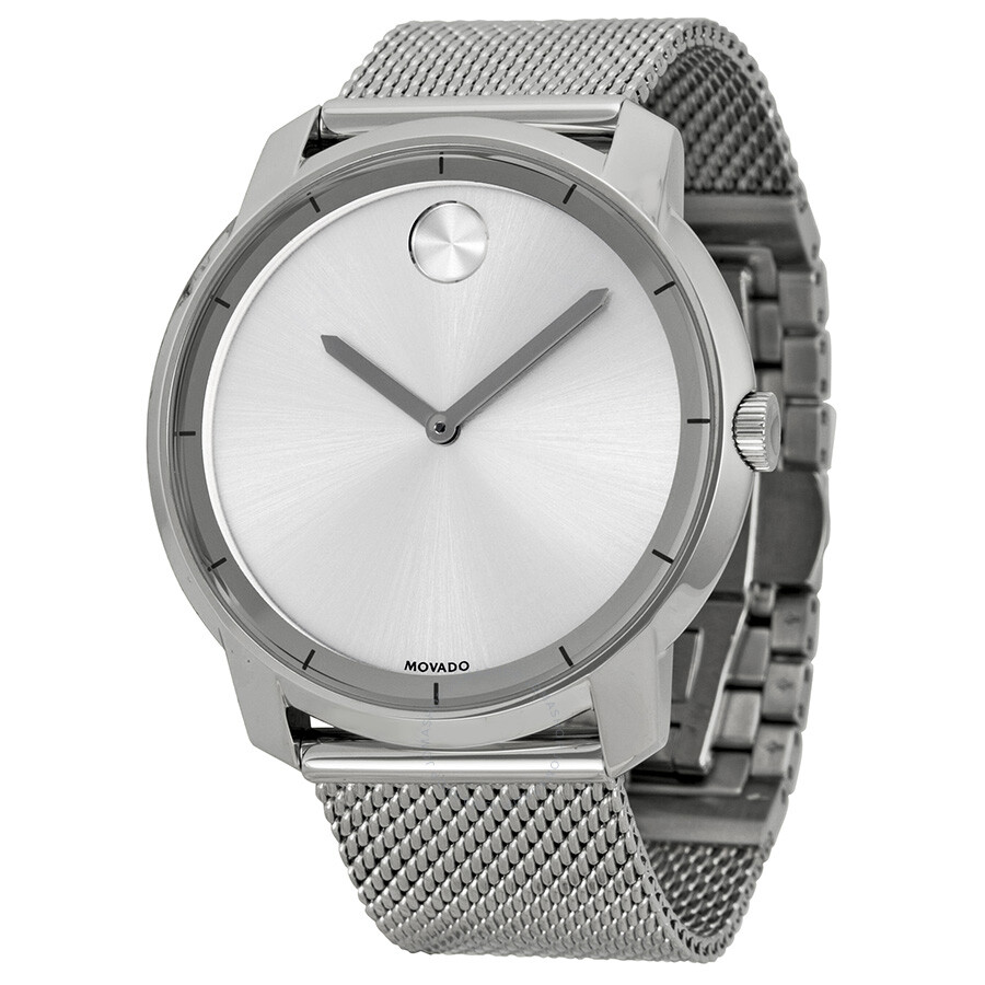 Movado Bold Silver Dial Stainless Steel Mesh Men s Watch 3600260 ... e602fd1e1a0f