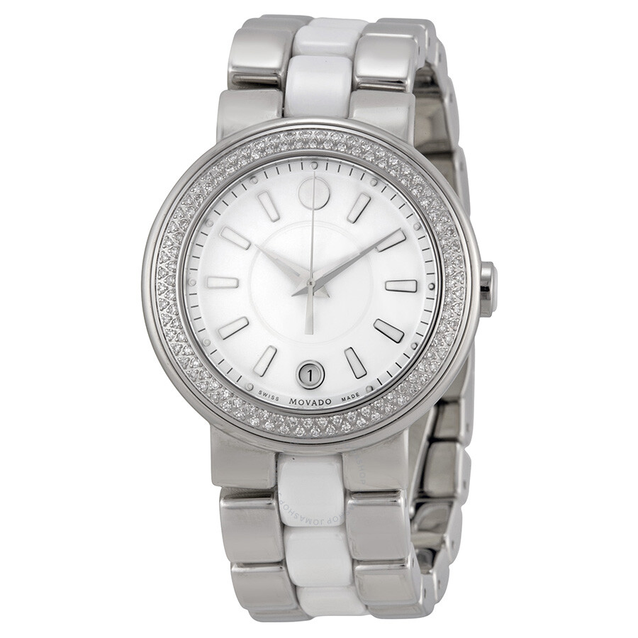 Movado cerena stainless steel diamond ladies watch 0606624 cerena movado watches jomashop for Woman diamond watches