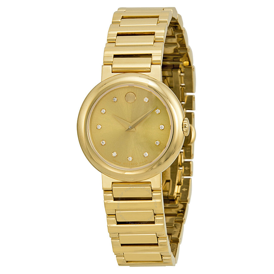 movado concerto gold soleil yellow gold plated