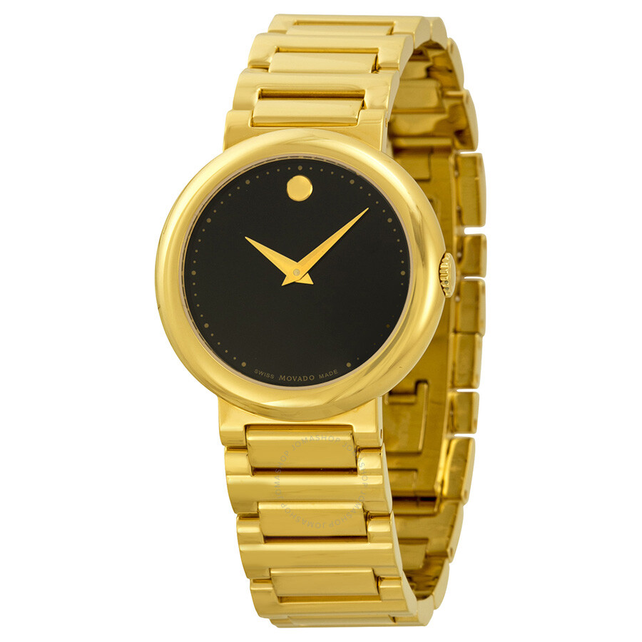 movado concerto gold plated stainless steel
