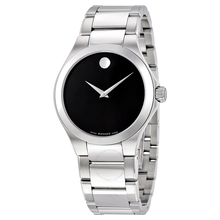 Movado defio black dial stainless steel men 39 s watch 0606333 movado watches jomashop for Stainless watches