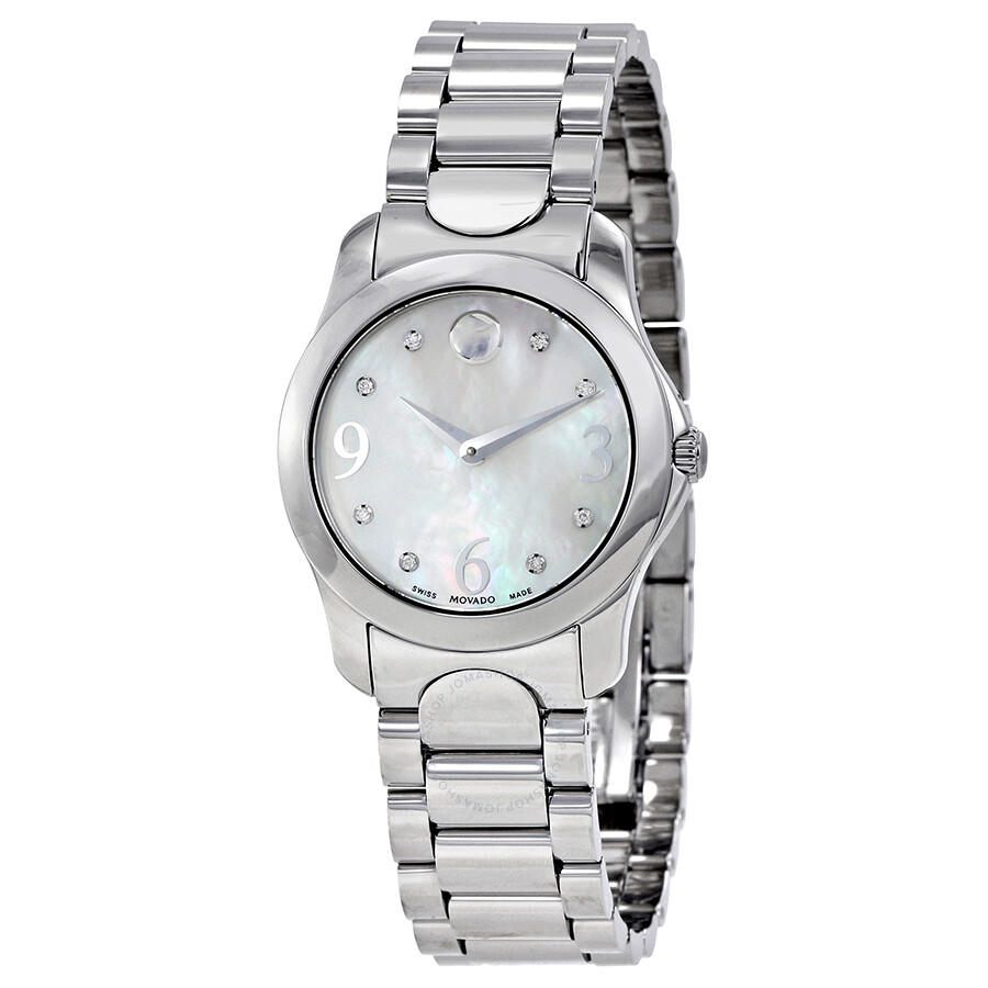 68854b3b6db Movado Diamond Mother of Pearl Dial Stainless Steel Ladies Watch 0606696 ...
