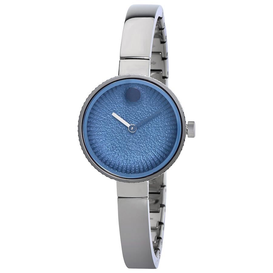 f27eb802f Movado Edge Blue Dial Bangle Ladies Watch 3680028 - Edge - Movado ...