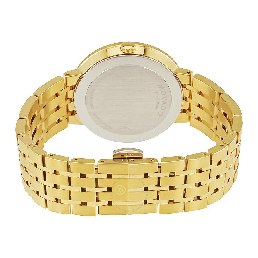 movado esperanza black dial men s gold tone watch 0607059 movado esperanza black dial men s gold tone watch 0607059