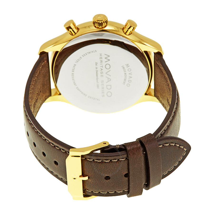 040fbd167 ... Movado Heritage Chronograph Parchment Dial Men's Watch 3650007