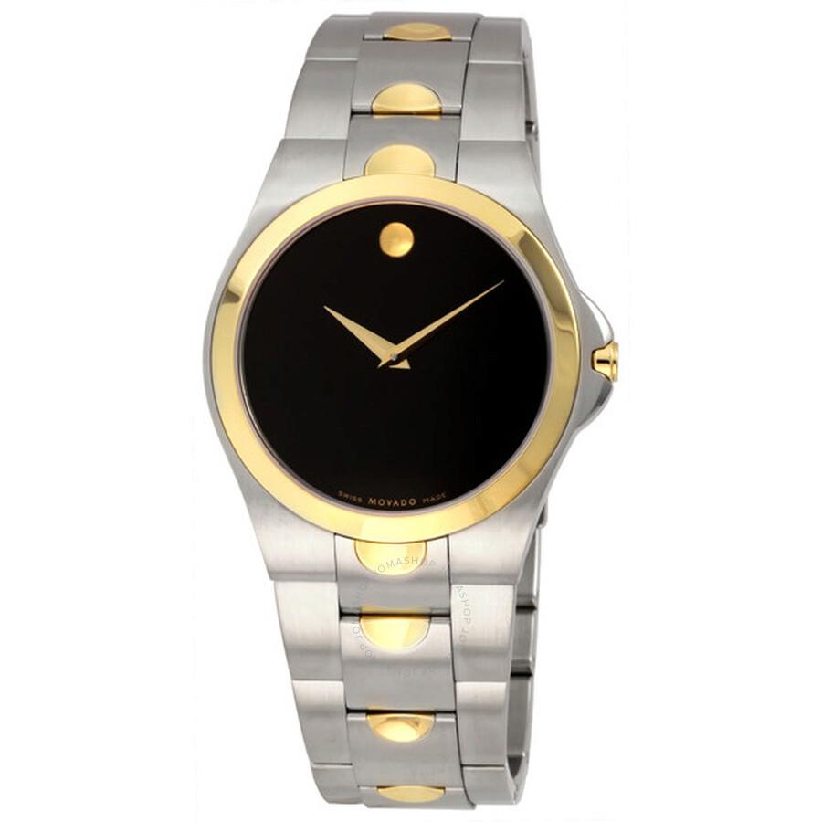 Movado Luno TwoTone Mens Watch 0605635 Luno Movado Watches