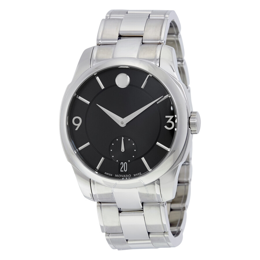 Movado Lx Black Dial Stainless Steel Men S Watch 0606626