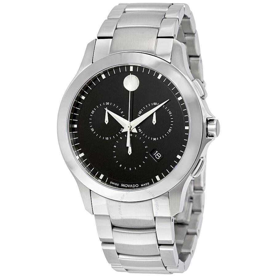 Movado Masino Black Dial Chronograph Men's Watch 0607037 ...