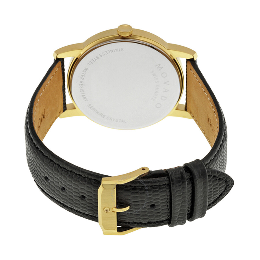 3eb5a272b1076 Movado Museum Black Dial Black Leather Men s Watch 2100005 - Museum ...
