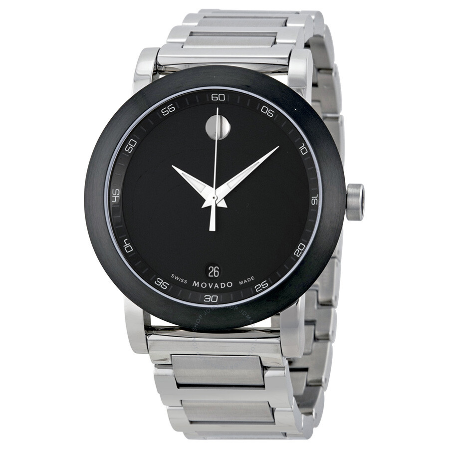 Movado Museum Black Dial Stainless Steel Men S Watch 0606604