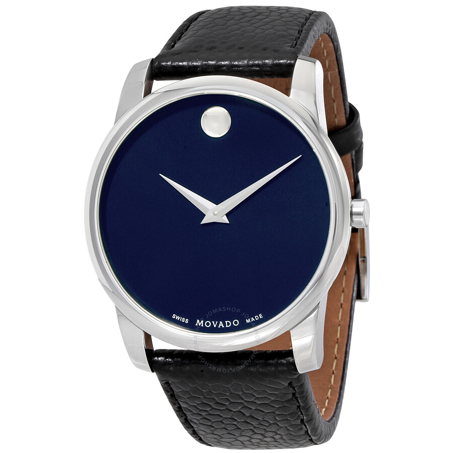 Movado Museum Blue Dial Leather Men S Watch 0607013