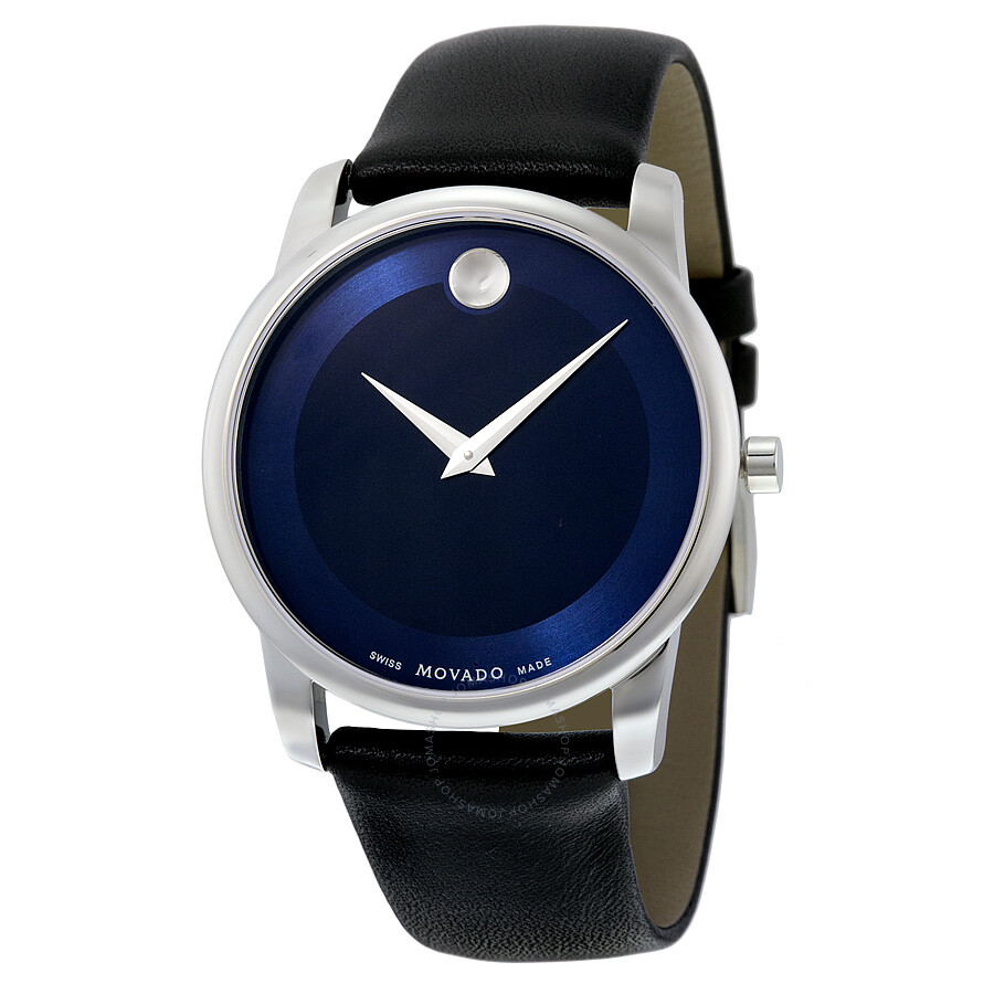 Movado Museum Blue Dial Stainless Steel Men's Watch ...