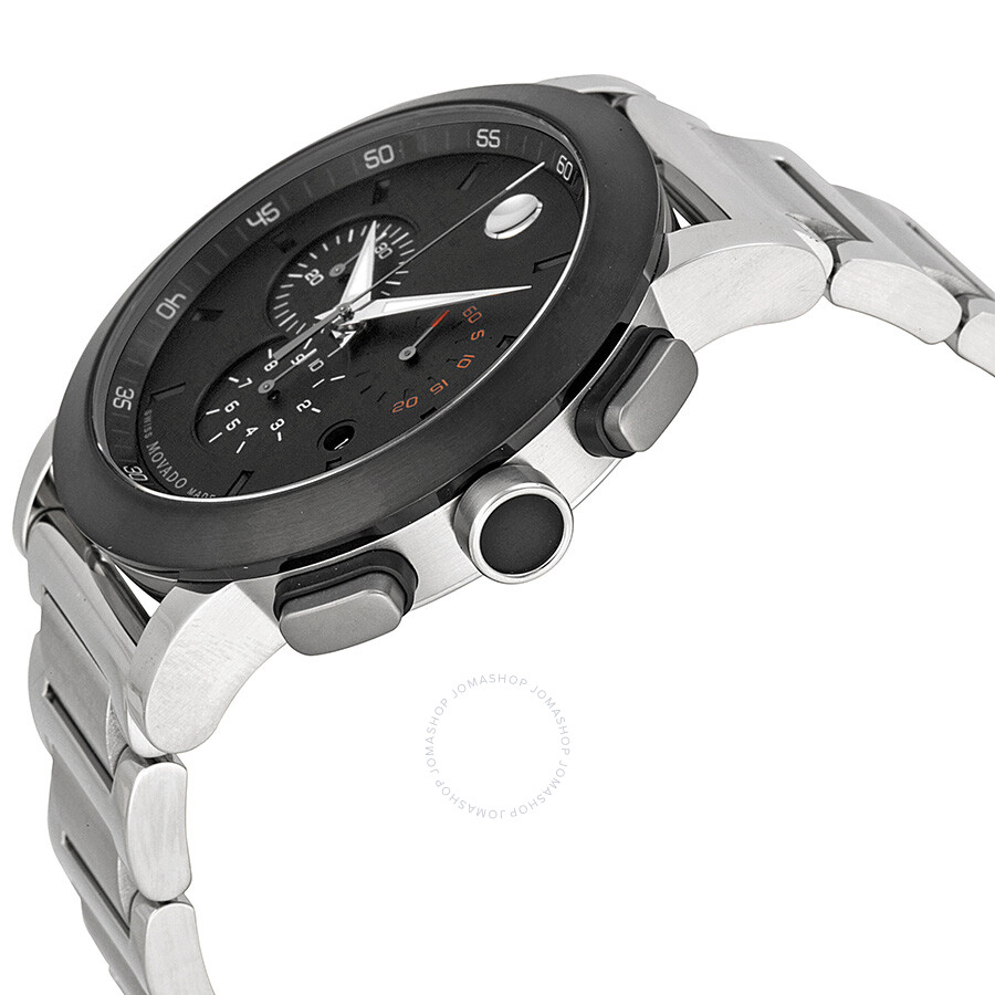 dc15542e2 ... Movado Museum Chronograph Grey Dial Stainless Steel Men's Watch 0606792  ...